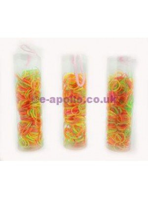 Braids Elastics In A Tube  - Neon Assortment