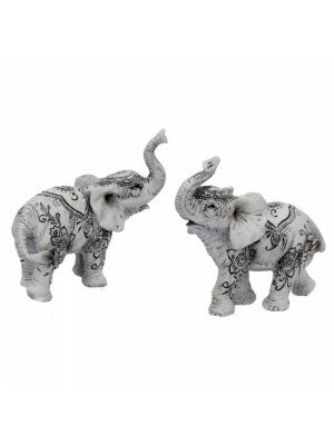 Wholesale Elephants Henna Harmony (Set of 2) - 9.5cm