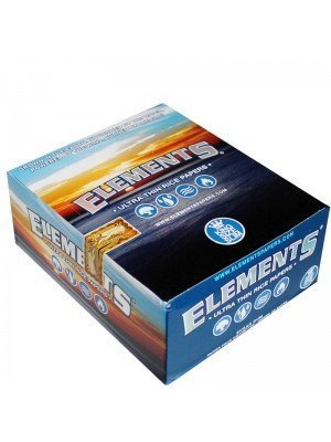 Elements King Size Slim Ultra Thin Rice Rolling Papers 50 Booklets