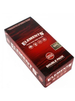 Elements Red Single Wide Slow Burn Hemp Rolling Paper