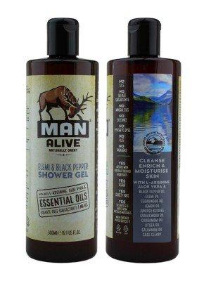 Wholesale Man Alive Shower Gel For Mens - Elemi & Black Pepper