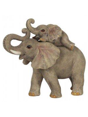 Wholesale Elephant Adventure Mother & Baby Ornament-14cm