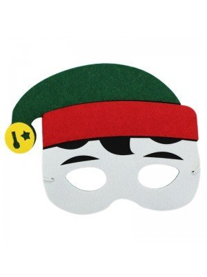 Elf Design Felt Christmas Face Masks