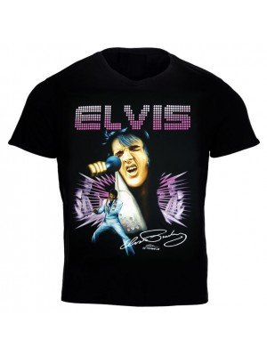 Elvis Presley T-Shirt with Printed Signature