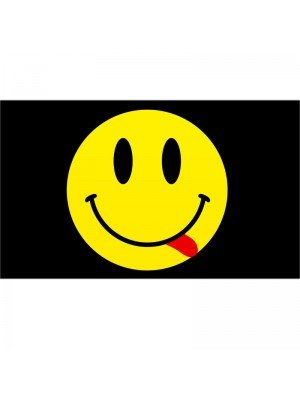 Emoji Smiley Face Flag - 5ft x 3ft
