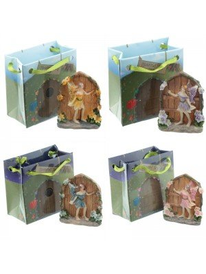 Enchanted Fairy Door Ornament With Gift Bags - Assorted