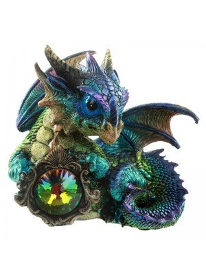 Enchanted Nightmare Crystal Protector Dragon - Purple