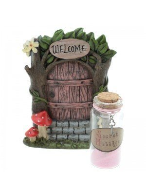 Ethereal Realm Door and Fairy Dust with Secret Message - Pink