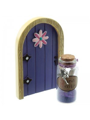 Ethereal Realm Fairy Door & Wishes Jar Collectable - Purple