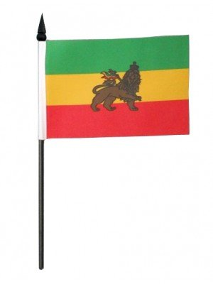 Ethiopia (Lion of Judah) Table Flag - 6 x 4
