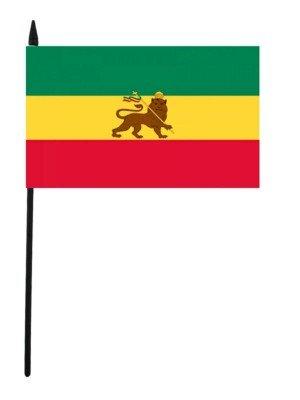 "Ethiopian Lion of Judah- Hand Flag 12"" x 18"""