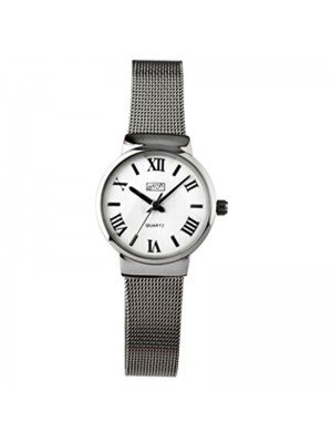 Wholesale Eton Ladies Mesh Bracelet Watch - Chrome