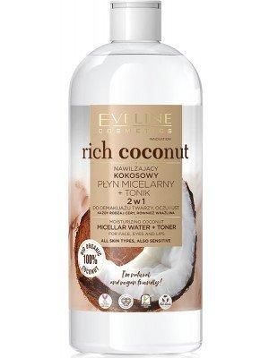 Eveline 100% Bio Organic Rich Coconut 2 in 1 Micellar Water & Toner - 500ml