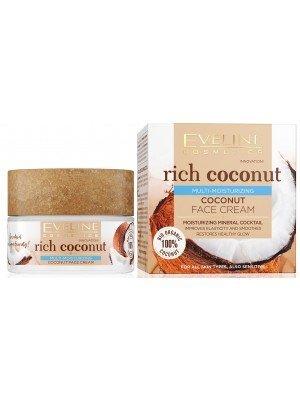 Eveline 100% Organic Rich Coconut Multi-Moisturizing Face Cream - 50ml