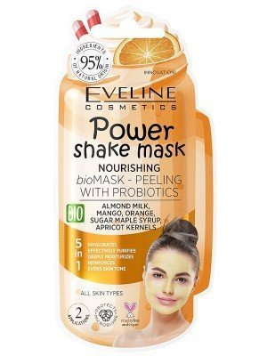 Wholesale Eveline 5 in 1 Nourishing Power Shake Mask Peeling With Probiotics