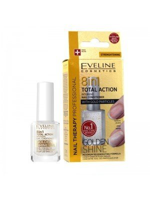 Wholesale Eveline 8-IN-1 Total Action Intenstive Nail Conditioner - Golden Shine