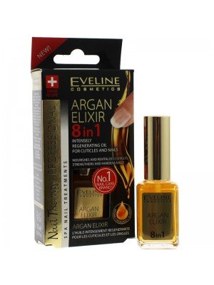Eveline Argan Elixir 8-IN-1 Intensely Regenerating Oil For Nails & Cuticles