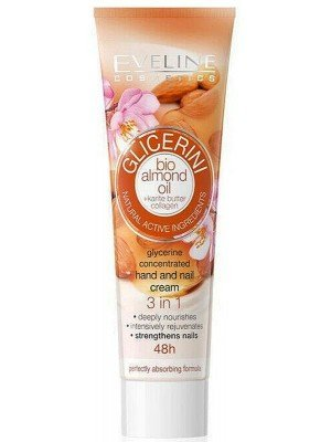 Eveline Glycerine Concentrated Hand and Nail Cream - Almond Oil (100ml)