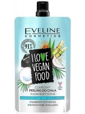 Eveline I Love Vegan Food Sugar Body Scrub 75ml-Coconut Oil