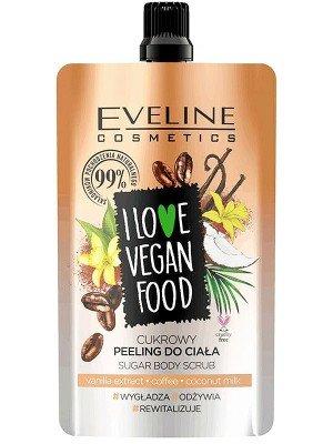 Eveline I Love Vegan Food Sugar Body Scrub 75ml-Coffee
