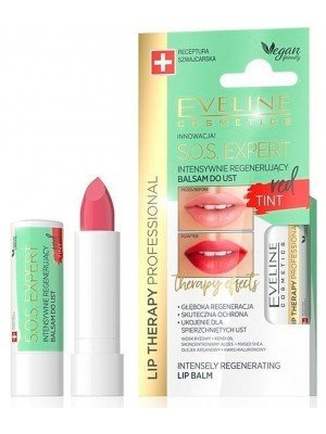 Eveline Lip Therapy S.O.S. Expert Intensively Regenerating Lip Balm - Red