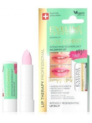 Eveline Lip Therapy S.O.S. Expert Intensively Regenerating Lip Balm - Rose