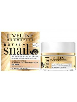 Eveline Royal Snail Concentrated Intensively Anti-Wrinkle Cream - Day and Night (40+)