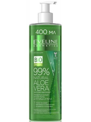 Eveline Vegan 99% Natural Aloe Vera Face & Body Gel - 400ml