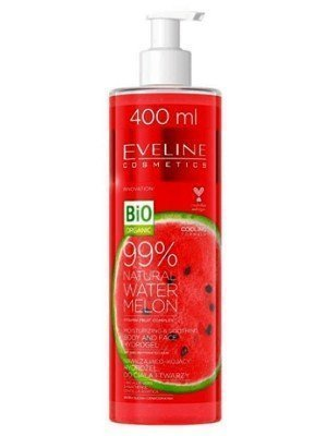 Eveline Watermelon Moisturizing & Soothing Face & Body Hydro Gel - (400 ml)