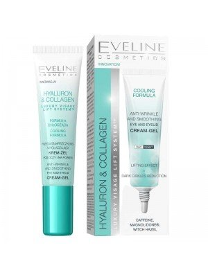 Wholesale Eveline Hyaluron & Collagen Anti Winkle and Smoothing Eye and Eyelid Cream Gel 15ml