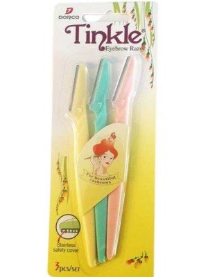 Wholesale Pack of 72Tinkle Eyebrow Razors In Assorted Colours