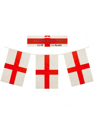 St. George's Cross Bunting Flags 12 FT