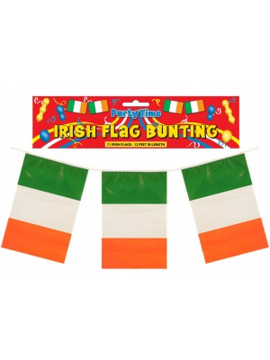 Wholesale 11 Irish Bunting Flags 12 Feet In Length
