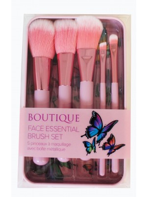 Wholesale Royal Cosmetic Boutique Face Essentials Brush Set - Pink