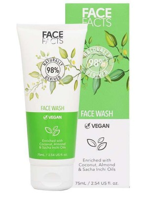 Wholesale Face Facts Face Wash With Coconut, Almond oil & Sacha Inchi Oil - 75ml