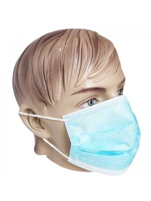 Wholesale 3 Ply Light Blue Face Mask