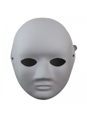 Face Shaped Mask With Elastic - White