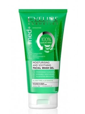 Eveline Cosmetics Facemed+ Moisturising and Soothing Facial wash gel-Aloe Vera(150ml)