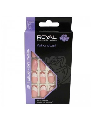 wholesale Royal Cosmetics 24 Glue-On Nail Tips - Fairy Dust