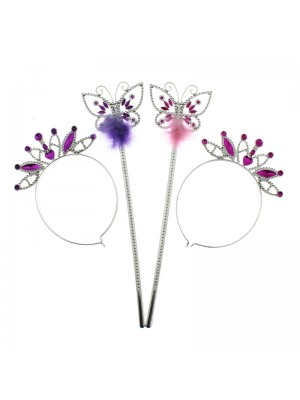 Fairy Headband & Wands Set (Assorted Colours)