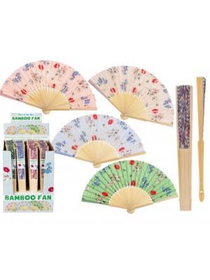 Wholesale Bamboo Fan - Flowers