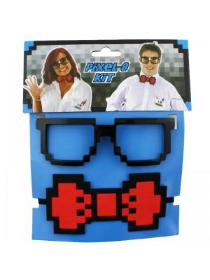 Fancy Dress Pixelated Glasses Assortment