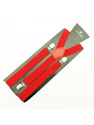 Wholesale Fashion Braces - Red (25mm)