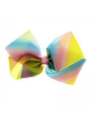 Fashion Bows On Clip - Rainbow Pastel