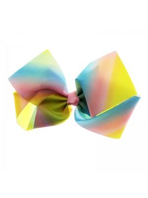 Fashion Bows On Clip - Rainbow Pastel