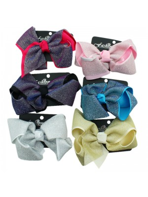Fashion Bows with Lurex Lining - Assorted Colours