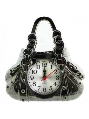 Fashion Purse Design Alarm Clock - Grey