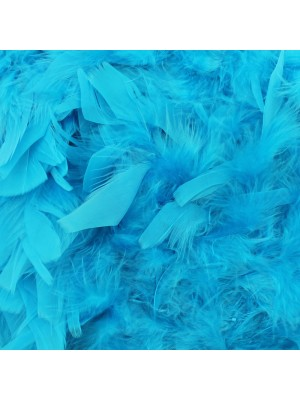 Feather Boas Turquoise Blue Deluxe 200cm Long