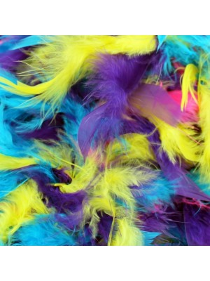 Wholesale Feather Boas Bright Mix Deluxe 200cm Long