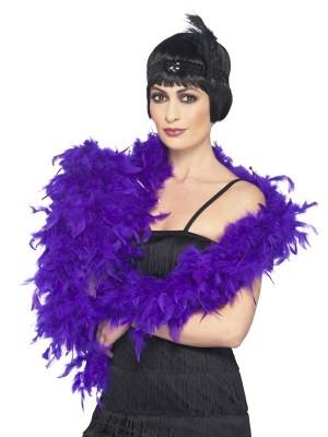 Wholesale Feather Boas Deluxe - Purple